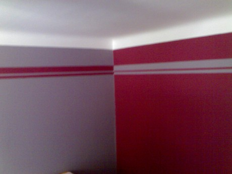 Malířské práce - malování pokojů barevné kombinace